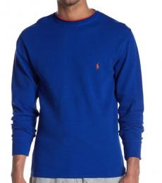 Blue Piping Waffle Thermal Sweater