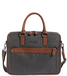Ted Baker Grey Stax Large Briefcase Bag