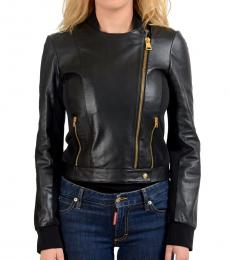 Versus Versace Black Leather Basic Jacket