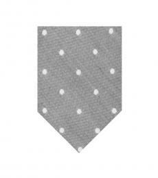 Calvin Klein Grey Horizon Dot Slim Tie