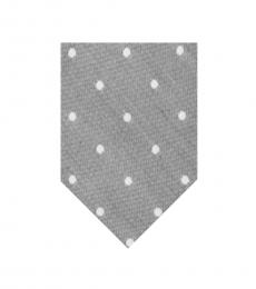 Calvin Klein Grey Horizon Dot Slim Tie