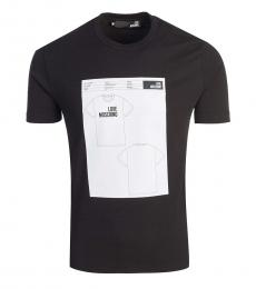 Love Moschino Black Graphic Print T-Shirt