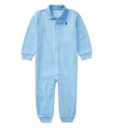 Baby Boys Blue Polo Coverall