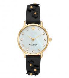 Black Metro Floral Watch