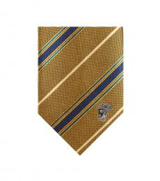 Versace Yellow Blue Stripe Silk Tie