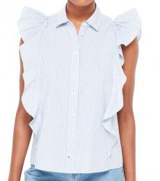 Manatee White Flutter Stripe Shirt