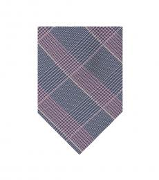 Berry Check Pattern Tie