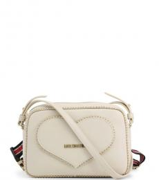 Love Moschino White Heart Stud Small Crossbody