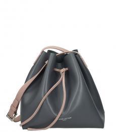 Lancaster Paris Grey Solid Medium Bucket Bag