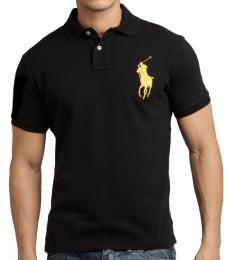 Ralph Lauren Black Gold Pony Custom Fit Polo