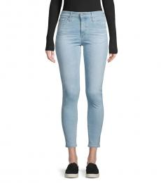 AG Adriano Goldschmied Light Blue High-Rise Skinny Ankle Jeans