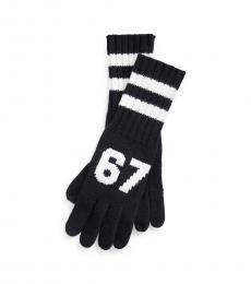 Ralph Lauren Black Wool-Blend Gloves