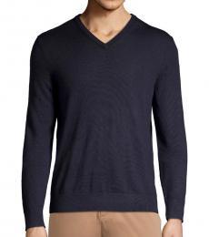 Calvin Klein Medium Purple Merino V-Neck Sweater