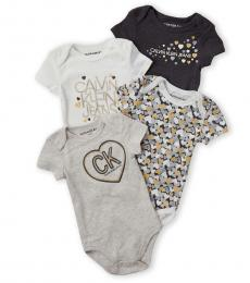 Calvin Klein 4 Piece Bodysuit Set (Baby Girls)