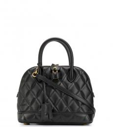 Black Ville Quilted Small Satchel