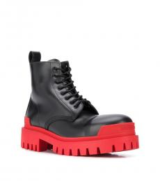 Balenciaga Black Red Strike Boots