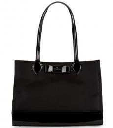 Black Penny Bow Large Tote