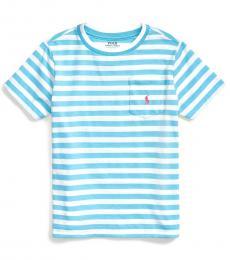 Little Boys Neptune Blue Striped T-Shirt