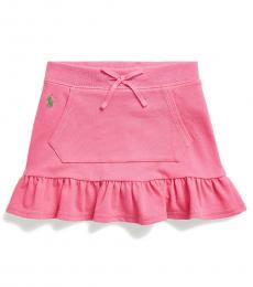 Little Girls Baja Pink Ruffled Scooter Skirt