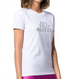 Chiara Ferragni White Cotton Printed T-Shirt