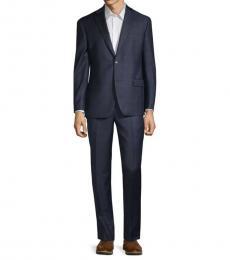 Michael Kors Navy Standard-Fit Wool Suit