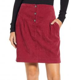 Rebecca Minkoff Cherry Brielle Button Front Mini Skirt