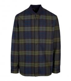 Fred Perry Dark Blue Check Logo Jacket