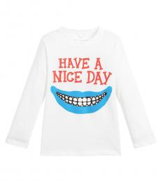 Stella McCartney Little Boys White Graphic Print T-Shirt
