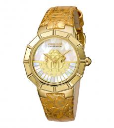 Gold Rotating Diamond Dial Watch