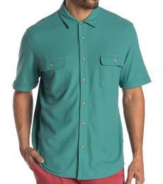 Bottle Green-Tropicool Seas Short Sleeve Shirt