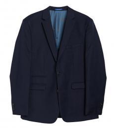 Vince Camuto Navy Blue Notch Lapel Slim Fit Jacket