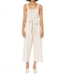 Billabong White Sandy Ruffled Jumpsuit