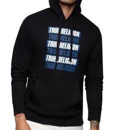 True Religion Black Logo Hoodie