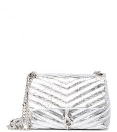 Rebecca Minkoff Silver Edie Quilted Small Shoulder Bag
