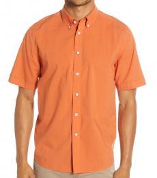 Orange Short Sleeve Slim Fit Shirt