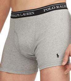 Ralph Lauren Grey Charcoal 5-Pack Classic-Fit Briefs