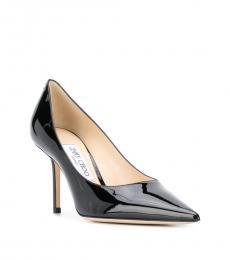 Jimmy Choo Black Love Leather Heels