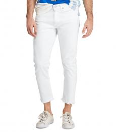 Ralph Lauren White Stretch Eldridge Skinny Jeans