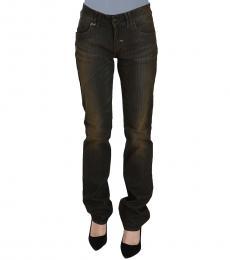 Black Washed Low Waist Slim Fit Denim Jeans
