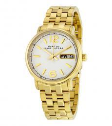 Marc Jacobs Gold Fergus Logo Watch
