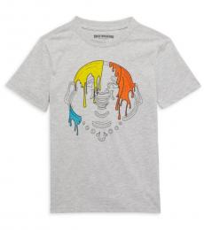 True Religion Boys Grey Smiling Buddha T-Shirt