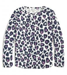 J.Crew Little Girls Ivory Glitter-Heart T-Shirt