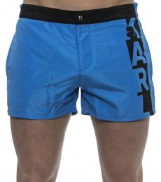 Karl Lagerfeld Blue Side Logo Swimshorts