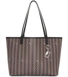 DKNY Black/Silver Gemma Large Tote