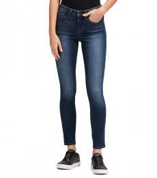 DKNY Warren Wash High-Rise Skinny Ankle Jean