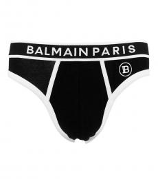 Balmain Black Logo Slip Brief