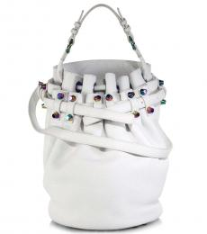 Alexander Wang White Studded Large Bucket Bag