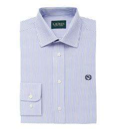 Ralph Lauren Boys Blue/White Striped Shirt