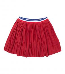 BCBGirls Little Girls Red Pleated Skirt