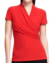 DKNY Poppy Ruched Top
